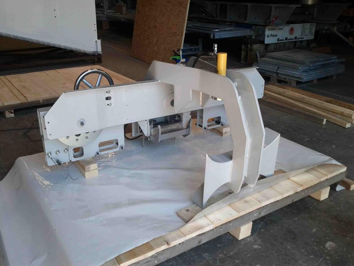 Emballage sur site d'éléments de remontées mécaniques – Montmélian