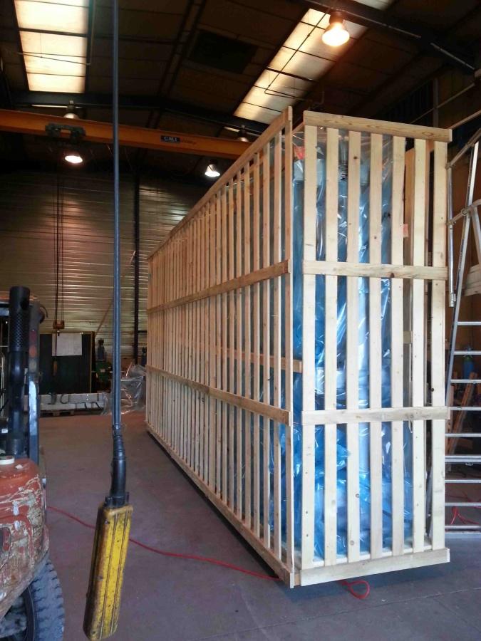 Caisse bois claire-voie, matériau PMUC – Chambéry