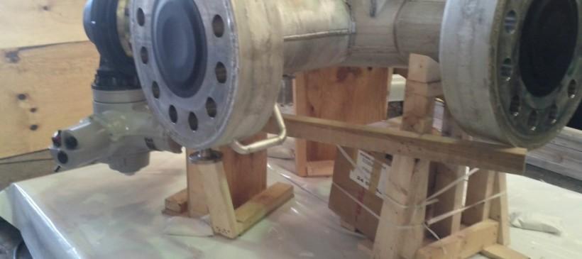 Emballage sur site industriel de vannes géantes – Grenoble