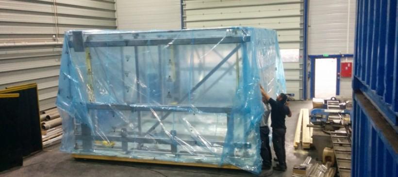 Emballage PMUC d'éléments piscine nucléaire Cadarache